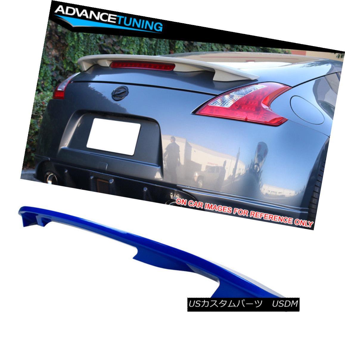 エアロパーツ For 09-18 Nissan 370Z Z34 OE Trunk Spoiler Painted #RAE Monterey Blue Pearl 09-18日産370Z Z34 OEトランク・スポイラー・ペイント#RAE Monterey Blue Pearl