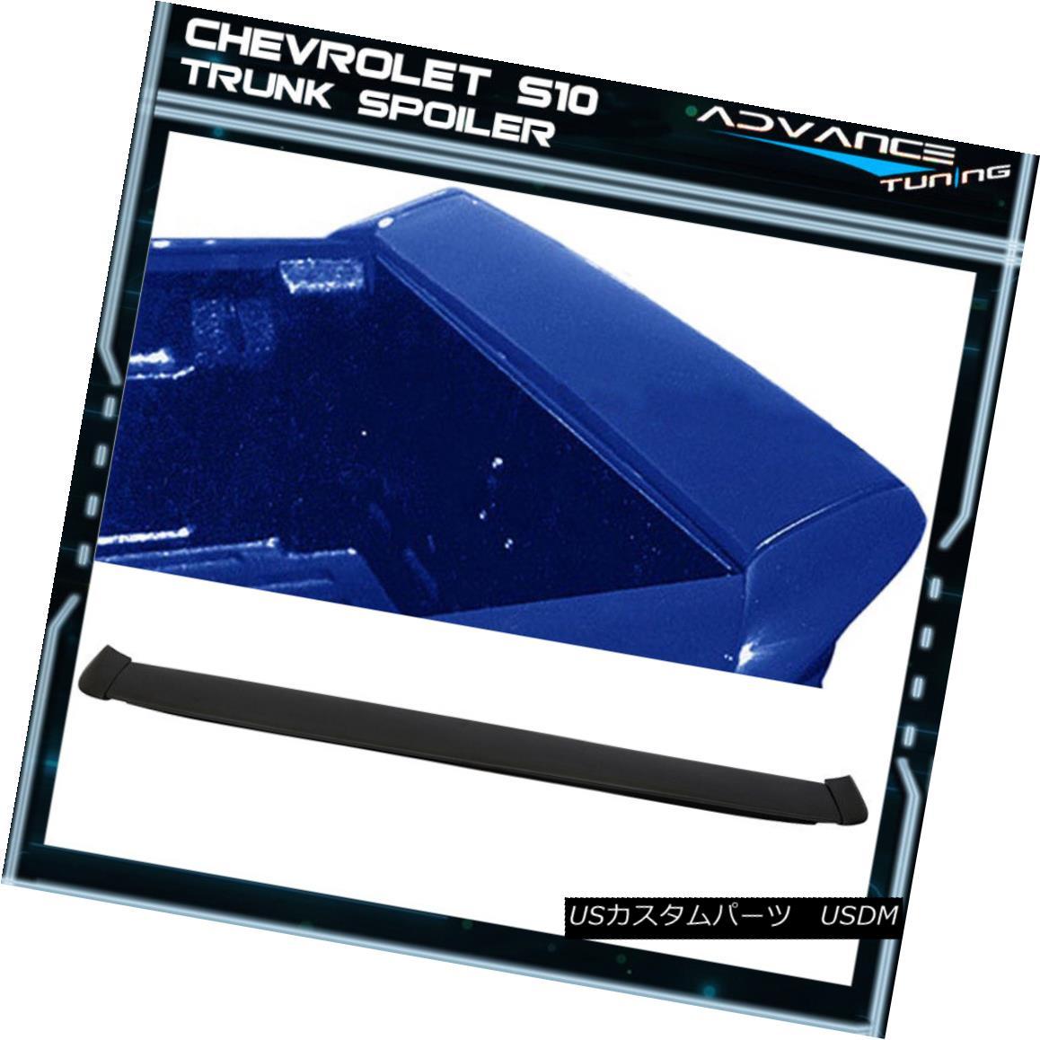 エアロパーツ Fits 94-03 Chevy S10 Sonoma WW Style Tailgate Trunk Spoiler 3PC - Polyurethane フィット94?03シボレーS10ソノマWWスタイルテールゲートトランクスポイラー3PC - ポリウレタン