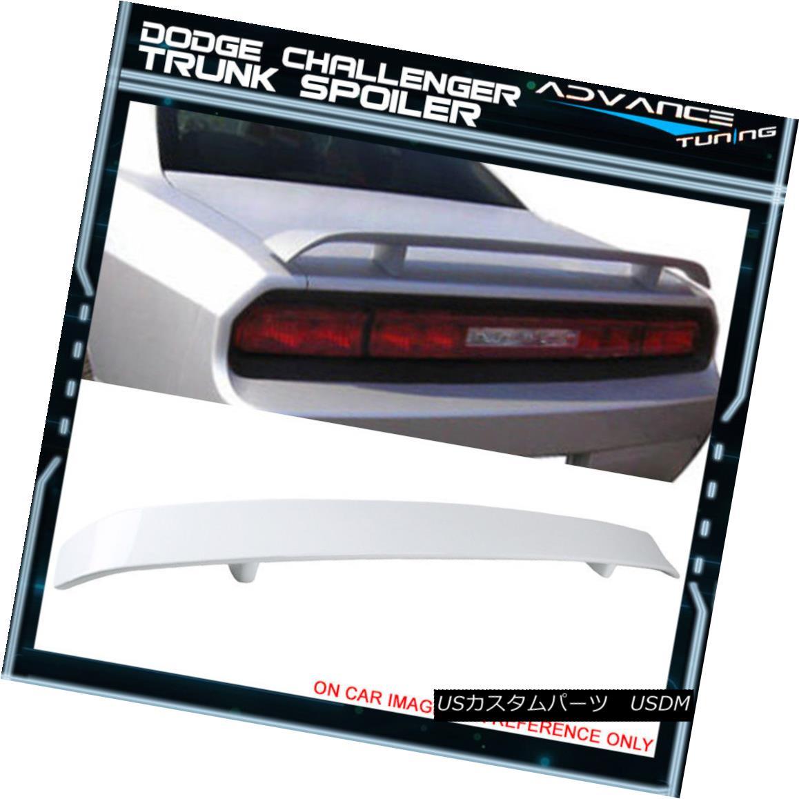 エアロパーツ 08-14 Challenger Trunk Spoiler OEM Painted Color Bright White #PW7 Go Wing 08-14チャレンジャー・トランク・スポイラーOEM塗装カラーブライト・ホワイト#PW7ゴー・ウィング