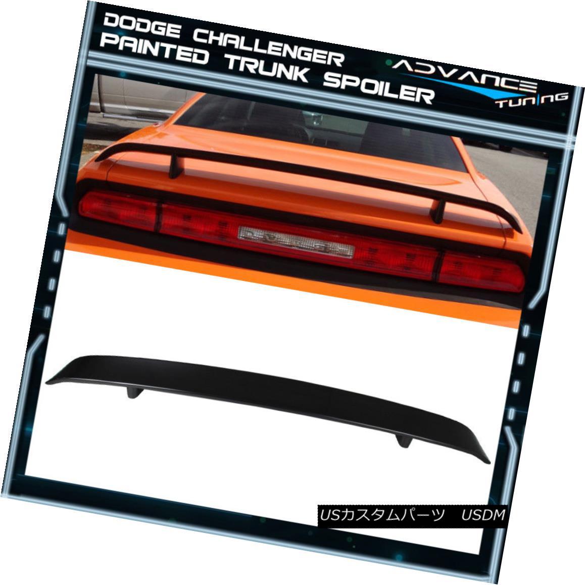 エアロパーツ 08-14 Dodge Challenger OE Trunk Spoiler Painted #PAU Granite Crystal Metallic 08-14ダッジチャレンジャーOEトランク・スポイラー塗装#PAU花崗岩クリスタル・メタリック