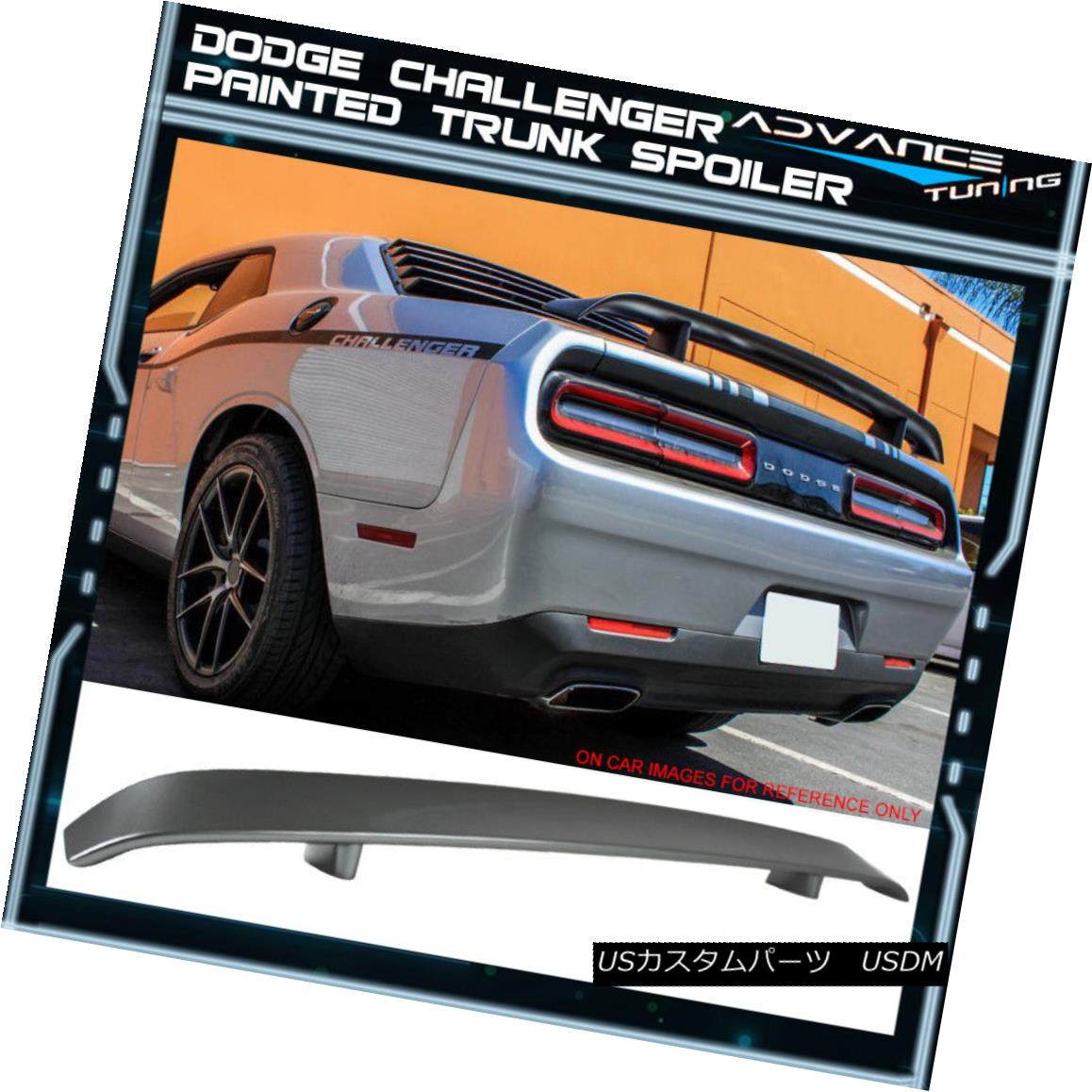 PAINTED DODGE CHALLENGER FACTORY LIP REAR WING SPOILER 2008-2014