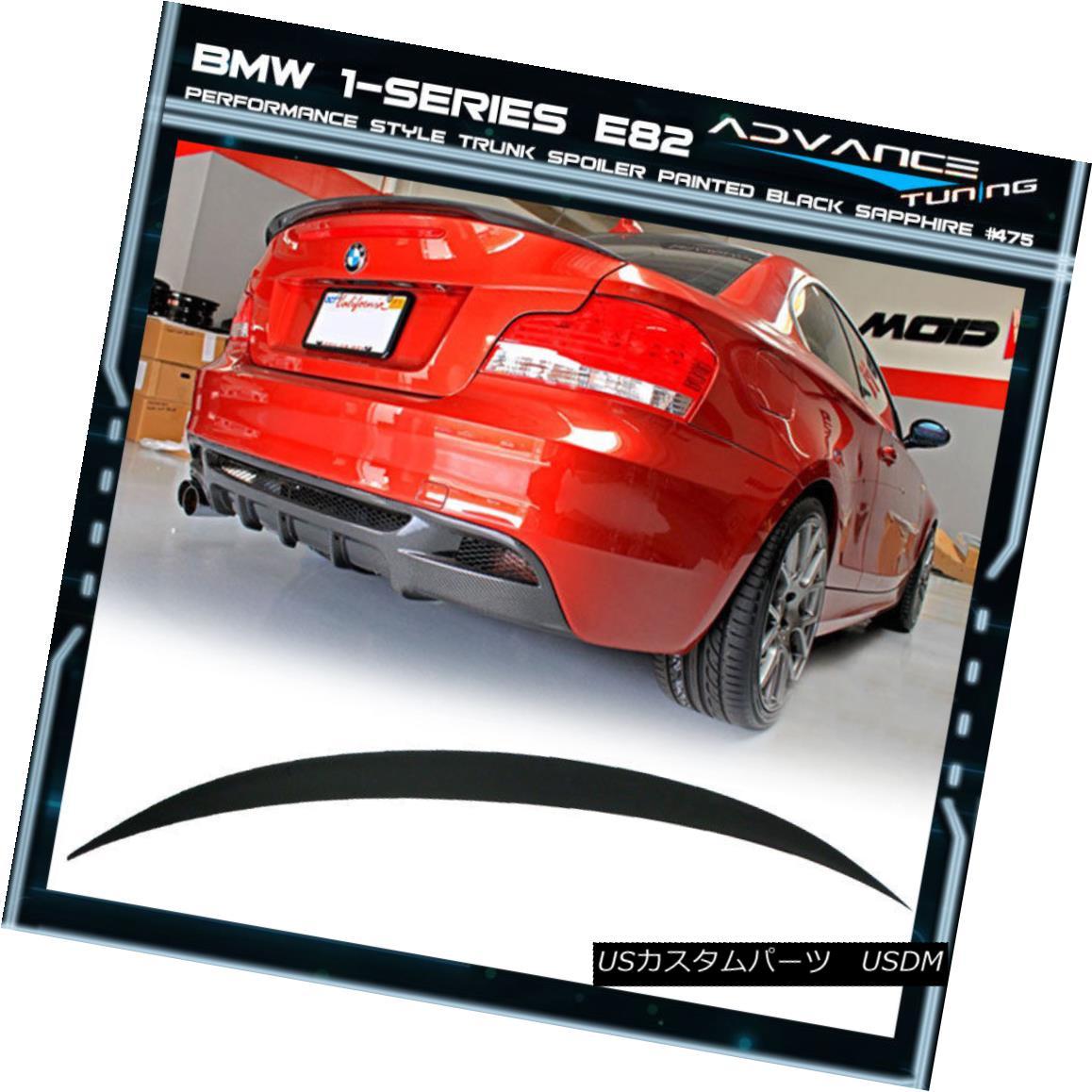 エアロパーツ 07-13 1 Series E82 2D OEM Painted Color Black Sapphire #475 P Trunk Spoiler 07-13 1 E82 2D OEM塗装カラーブラックサファイア#475 Pトランク・スポイラー
