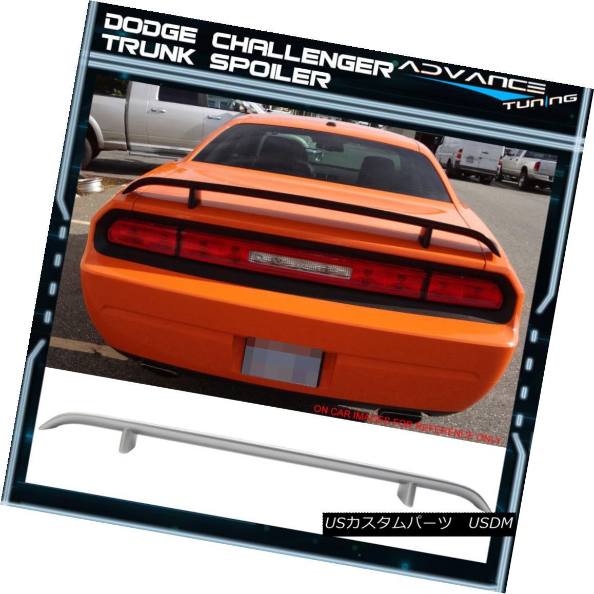 エアロパーツ 08-14 Dodge Challenger Trunk Spoiler OEM Painted #PS2 Bright Silver Metallic 08-14ダッジチャレンジャートランクスポイラーOEM塗装#PS2ブライトシルバーメタリック