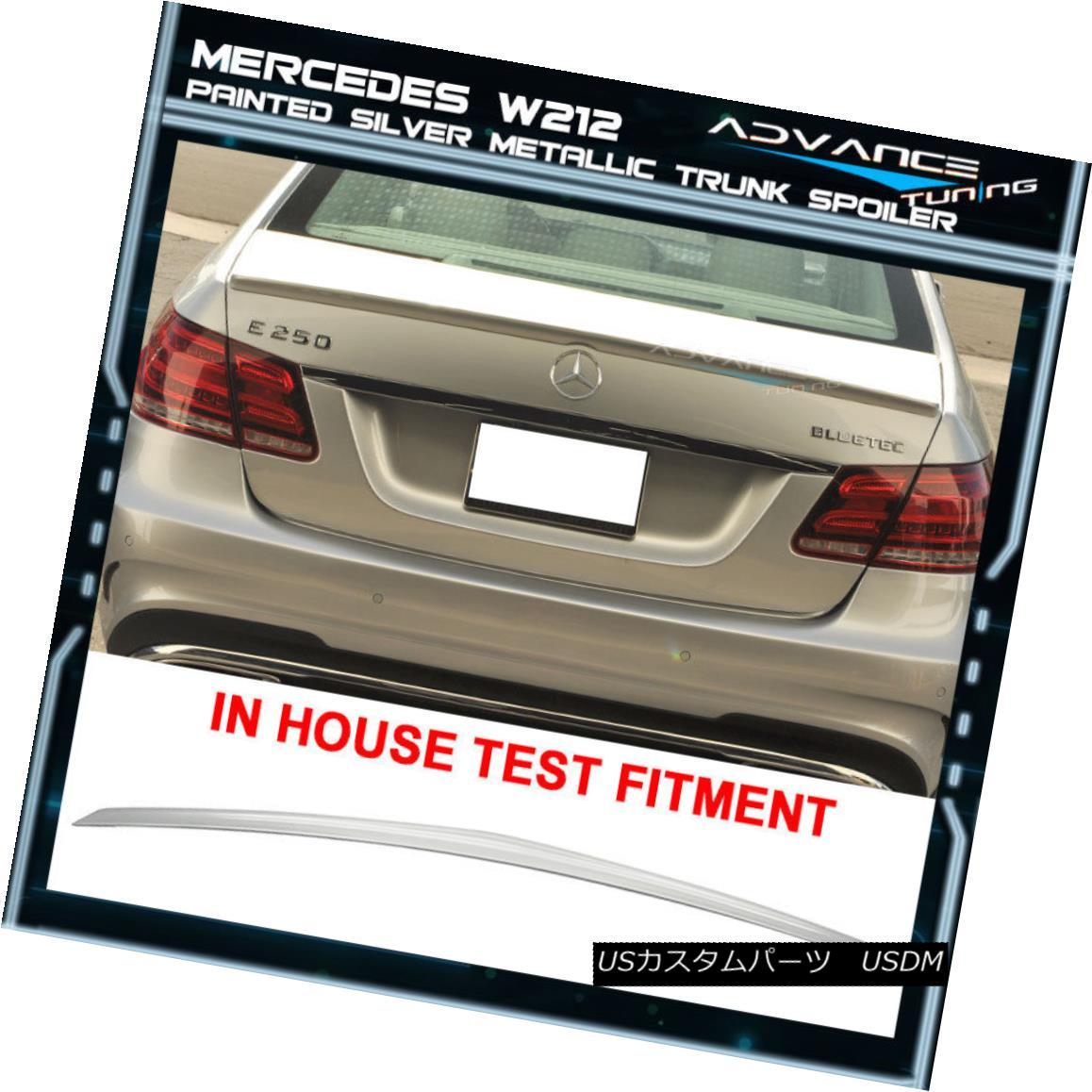 エアロパーツ 10-16 Benz E W212 Trunk Spoiler OEM Painted Color # 744 775 Silver Metallic 10-16ベンツE W212トランク・スポイラーOEM塗装カラー#744 775シルバー・メタリック