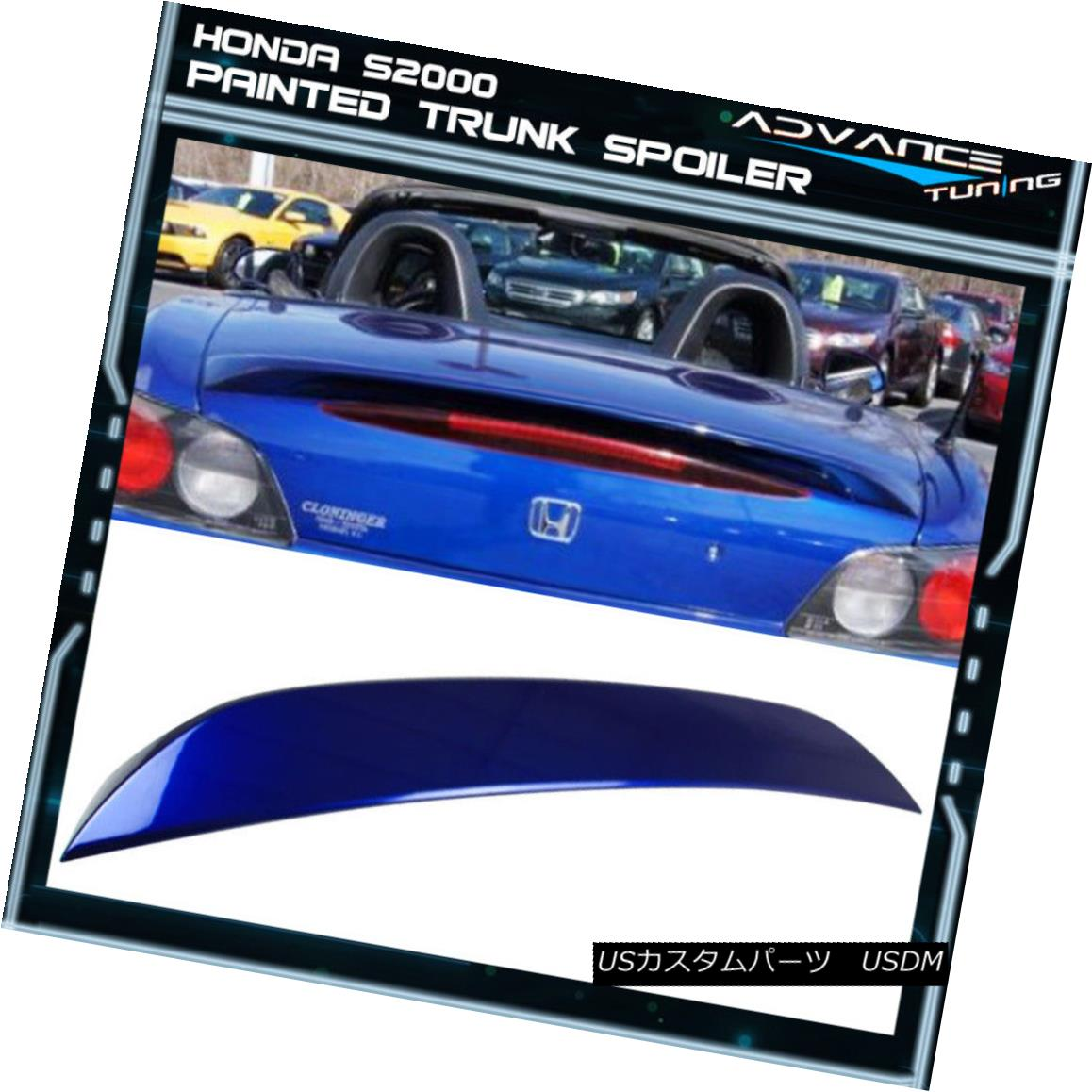 エアロパーツ 01-02 S2000 2Dr AP1 Trunk Spoiler OEM Painted Color Monte Carlo Blue Pearl #B66P 01-02 S2000 2Dr AP1トランクスポイラーOEM塗装カラーモンテカルロブルーパール#B66P