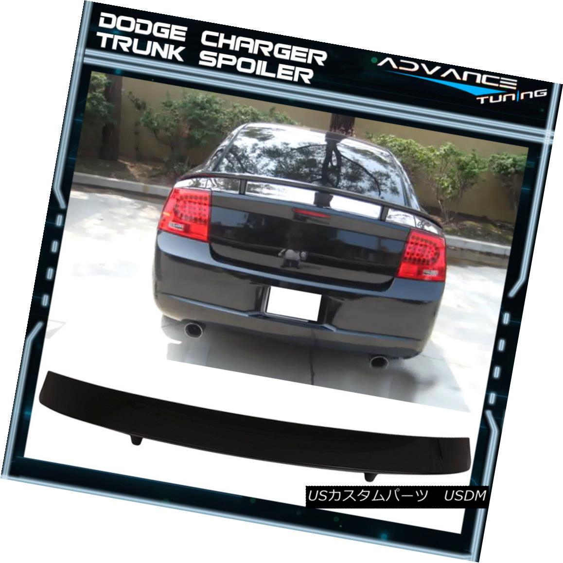 エアロパーツ Fits 06-10 Dodge Charger Trunk Spoiler Painted #PXR Brilliant Black Pearl フィット06-10ダッジチャージャートランクスポイラー塗装#PXRブリリアントブラックパール