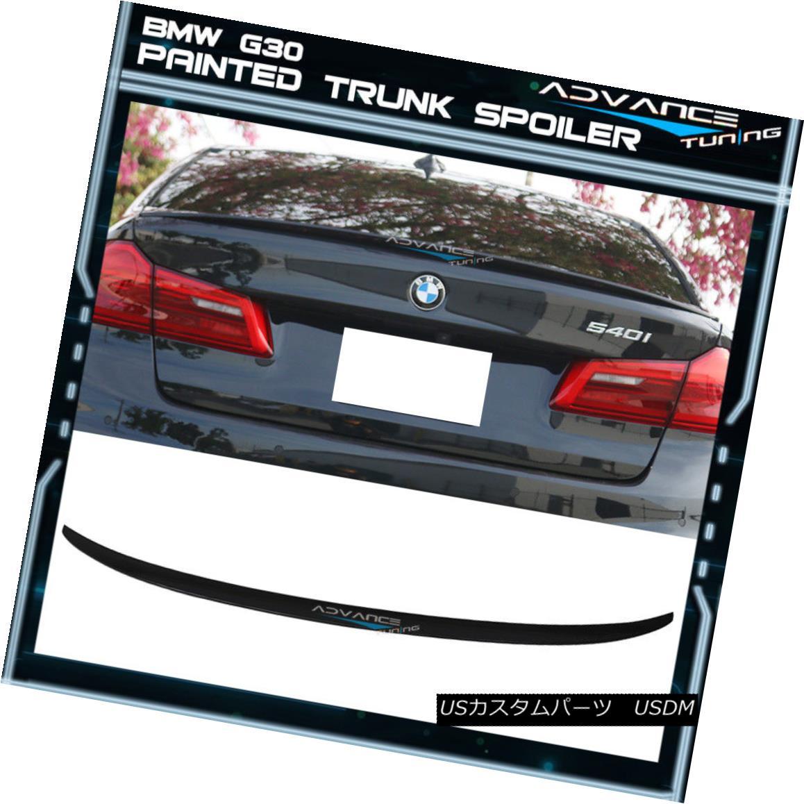 エアロパーツ 17-18 G30 M5 P Style Trunk Spoiler OEM Painted #475 Black Sapphire Metallic 17-18 G30 M5 Pスタイルのトランク・スポイラーOEM塗装#475ブラック・サファイア・メタリック