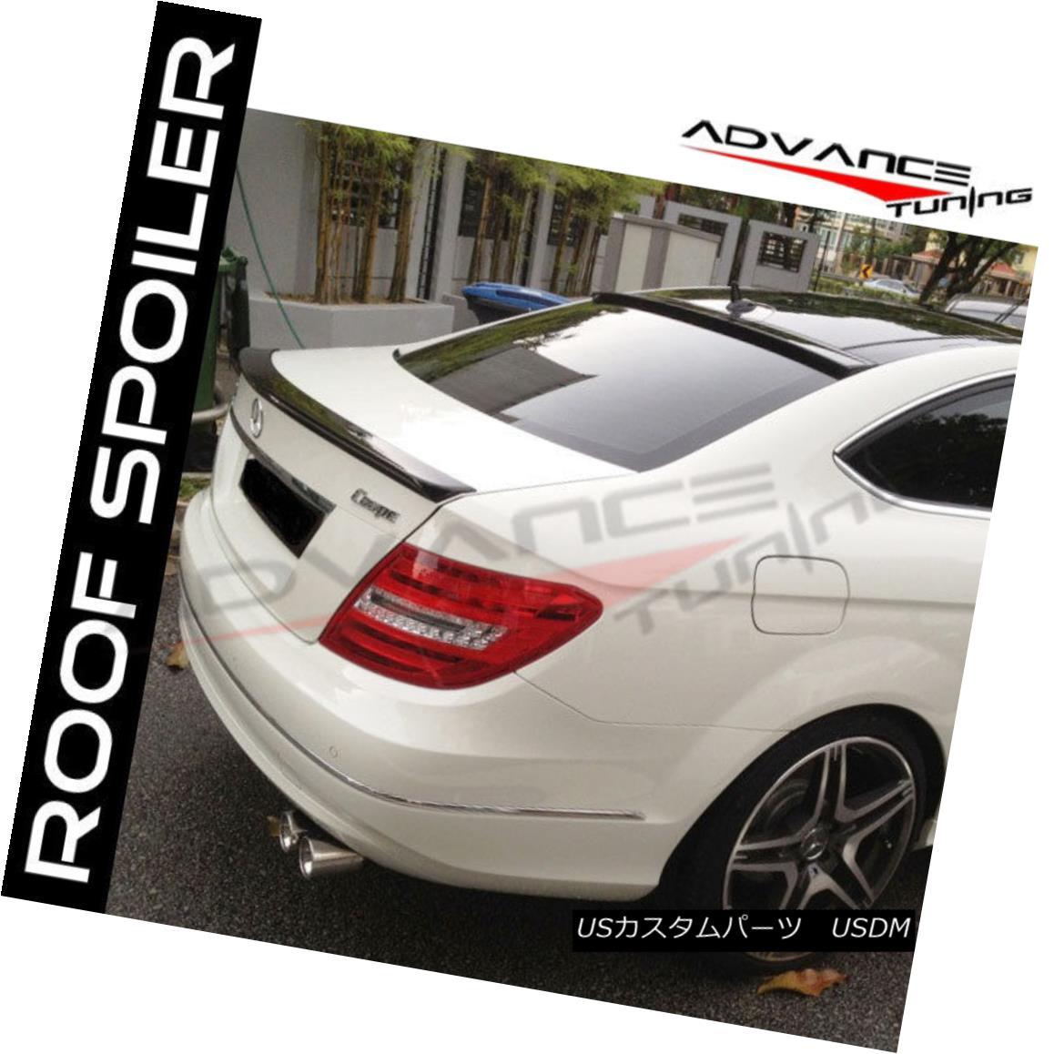 エアロパーツ Fit 12-15 Mercedes-Benz C Class W204 2Dr Coupe C204 OE ABS Roof Spoiler Wing フィット12-15メルセデスベンツCクラスW204 2DrクーペC204 OE ABSルーフスポイラーウイング