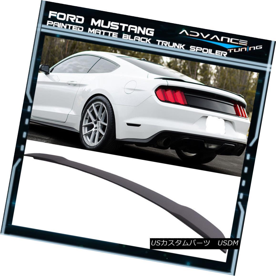 エアロパーツ 15-18 Ford Mustang GT Style Painted Matte Black Trunk Spoiler - ABS 15-18フォードマスタングGTスタイル塗装マットブラックトランクスポイラー - ABS