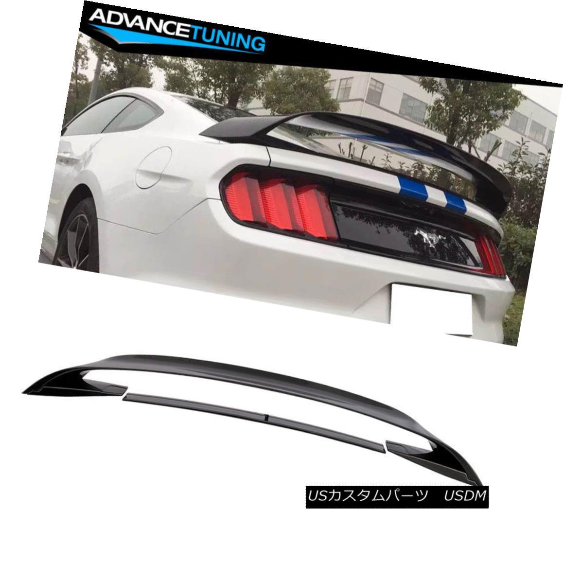 エアロパーツ Fits 15-18 Ford Mustang GT350 GT350R Style Trunk Spoiler Wing Glossy Black ABS フィット15-18フォードマスタングGT350 GT350RスタイルのトランクスポイラーウィンググロッシーブラックABS