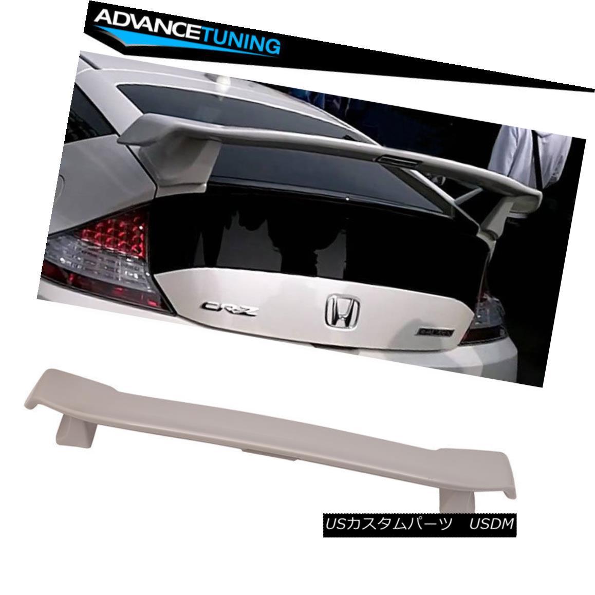 エアロパーツ Fits 11-15 Honda CR-Z CRZ 2Dr Mugen Style MU ABS Hatch Trunk Spoiler Unpainted フィット11~15ホンダCR-Z CRZ 2Dr無限スタイルMU ABSハッチトランクスポイラー無塗装