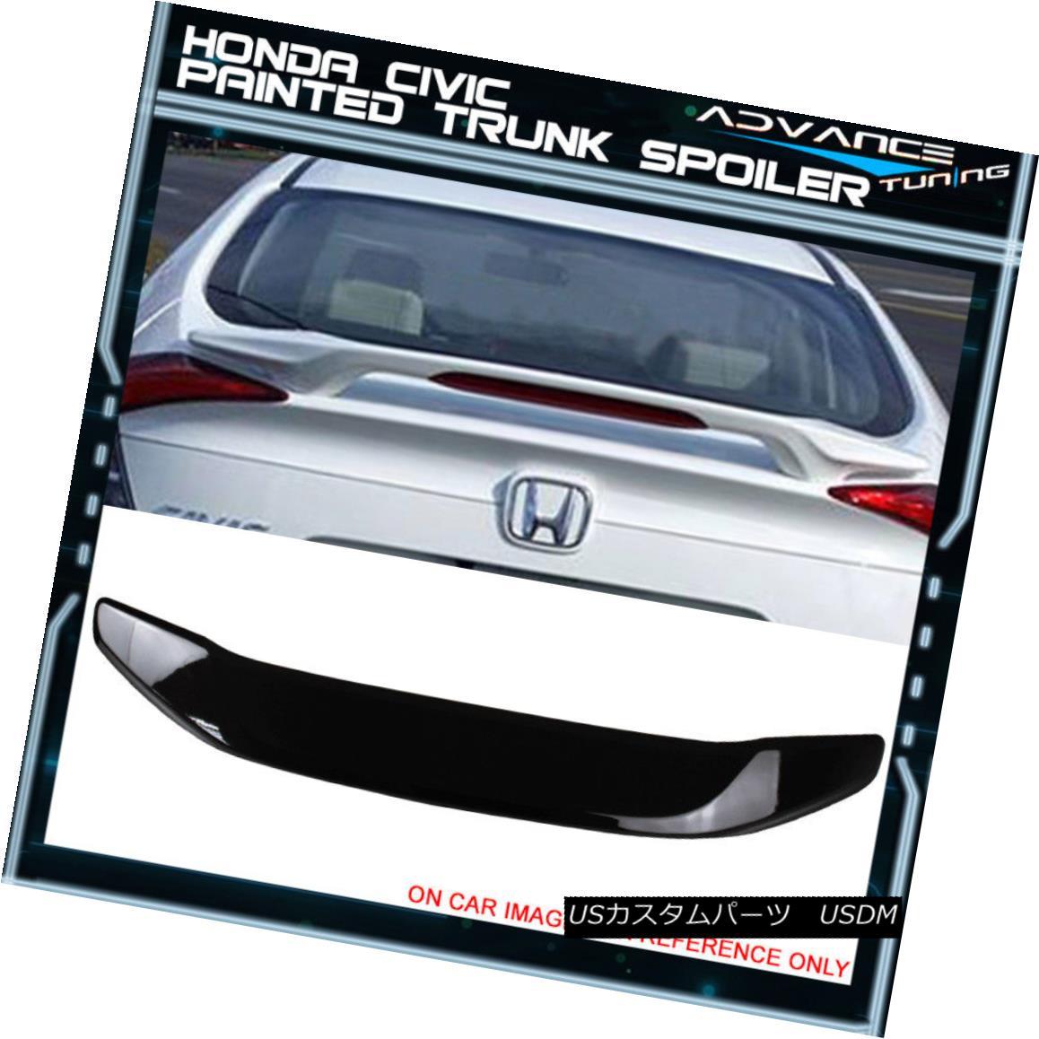 エアロパーツ 16-18 Civic Sedan Trunk Spoiler OEM Painted Color #R560P Burgundy Night Pearl 16-18シビックセダントランクスポイラーOEM塗装カラー#R560Pブルゴーニュナイトパール
