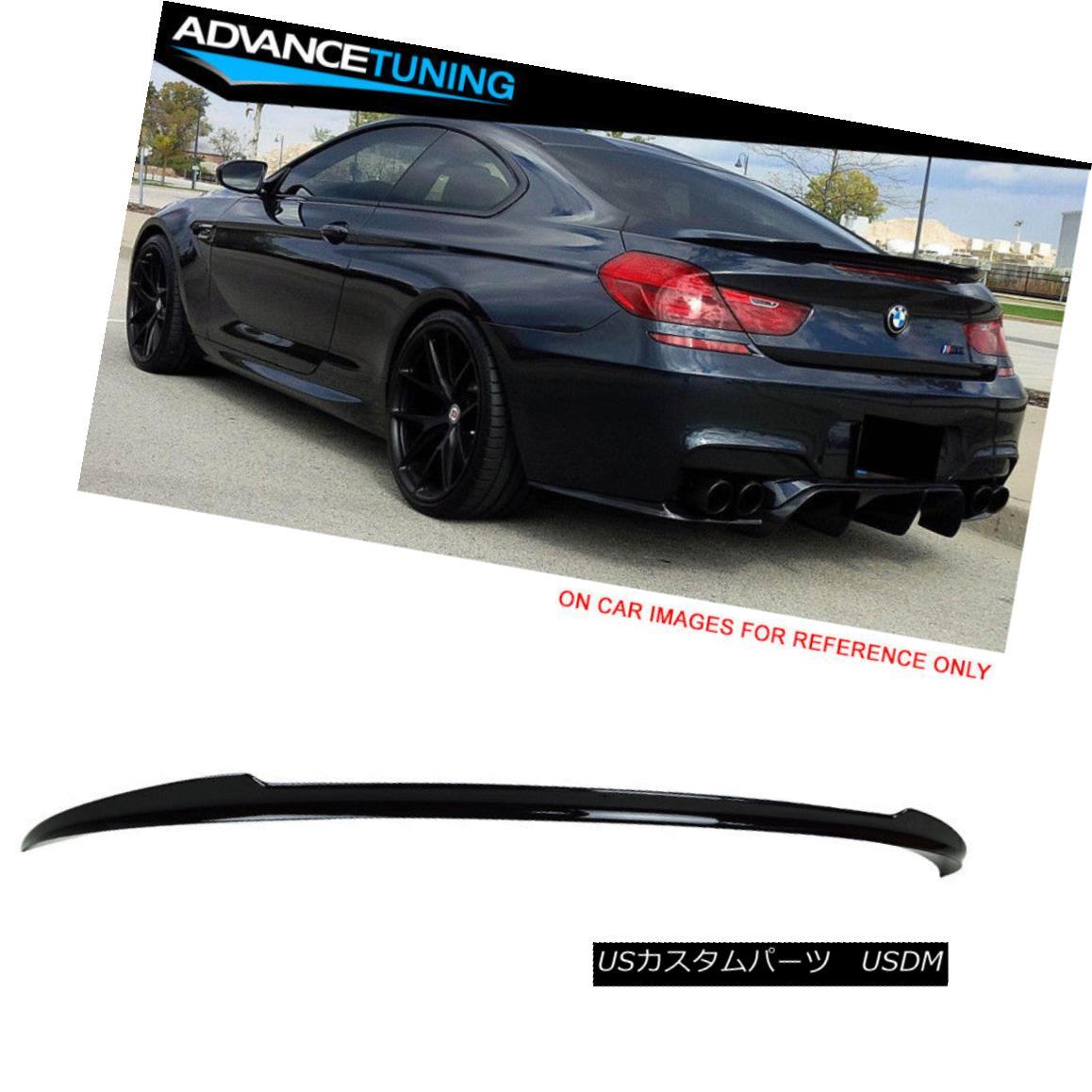 エアロパーツ Fit 12-17 F13 F06 V Style Trunk Spoiler OEM Painted #475 Black Sapphire Metallic フィット12-17 F13 F06 Vスタイルのトランク・スポイラーOEM塗装#475ブラック・サファイア・メタリック
