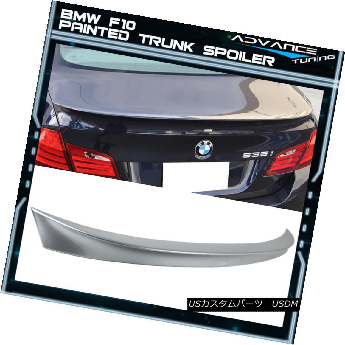 エアロパーツ 11-16 BMW F10 Sedan AC Trunk Spoiler OEM Painted #A83 Glacier Silver Metallic 11-16 BMW F10セダンACトランク・スポイラーOEM塗装#A83氷河シルバー・メタリック