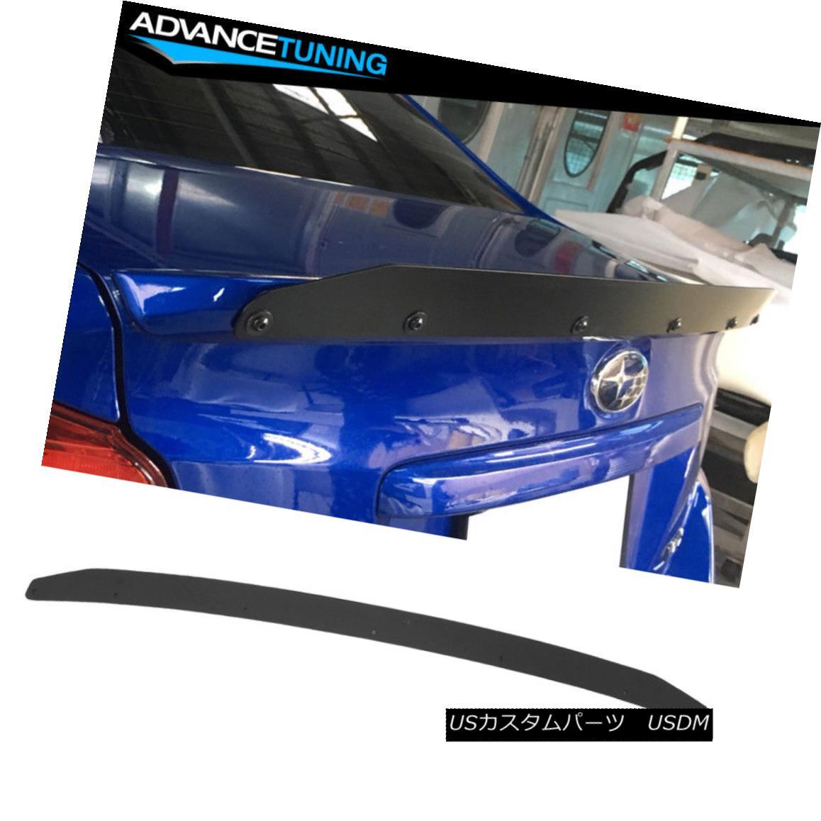 エアロパーツ Fits 15-18 Subaru WRX OE Factory Spoiler Gurney Flap Wickerbill Coated Aluminum フィット15-18スバルWRX OE工場のスポイラーガーニーフラップウィッカービルコートアルミ