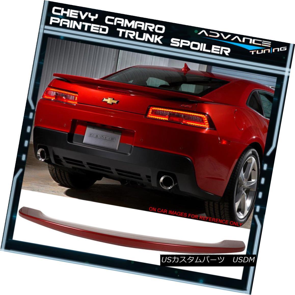 エアロパーツ 14-15 Camaro Trunk Spoiler OEM Painted Color #WA133X Ladies Magenta-Man Metallic 14-15カマロのトランク・スポイラーOEM塗装カラー#WA133Xレディースマゼンタ・マン・メタリック
