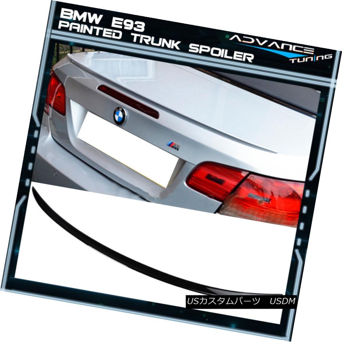 エアロパーツ 07-13 BMW E93 M3 Trunk Spoiler OEM Painted Color #475 Black Sapphire Metallic 07-13 BMW E93 M3トランク・スポイラーOEM塗装カラー#475ブラック・サファイア・メタリック