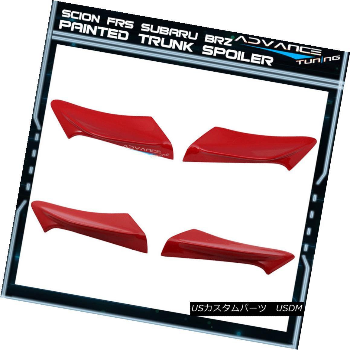 エアロパーツ Fit Scion FRS BRZ 2Dr TRD Trunk Spoiler Side Wing OEM Painted Color Pure Red M7Y サイオンサイオンFRS BRZ 2Dr TRDトランクスポイラーサイドウィングOEM塗装カラーピュアレッドM7Y