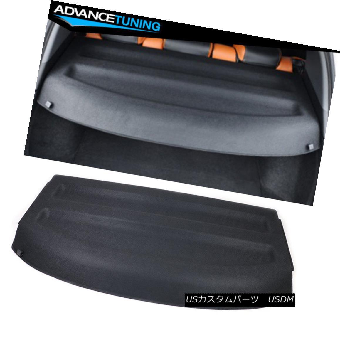 エアロパーツ Fits 16-18 Honda HRV Cargo Cover Rear Trunk Shield Black ABS フィット16-18ホンダHRVカーゴカバーリアトランクシールドブラックABS