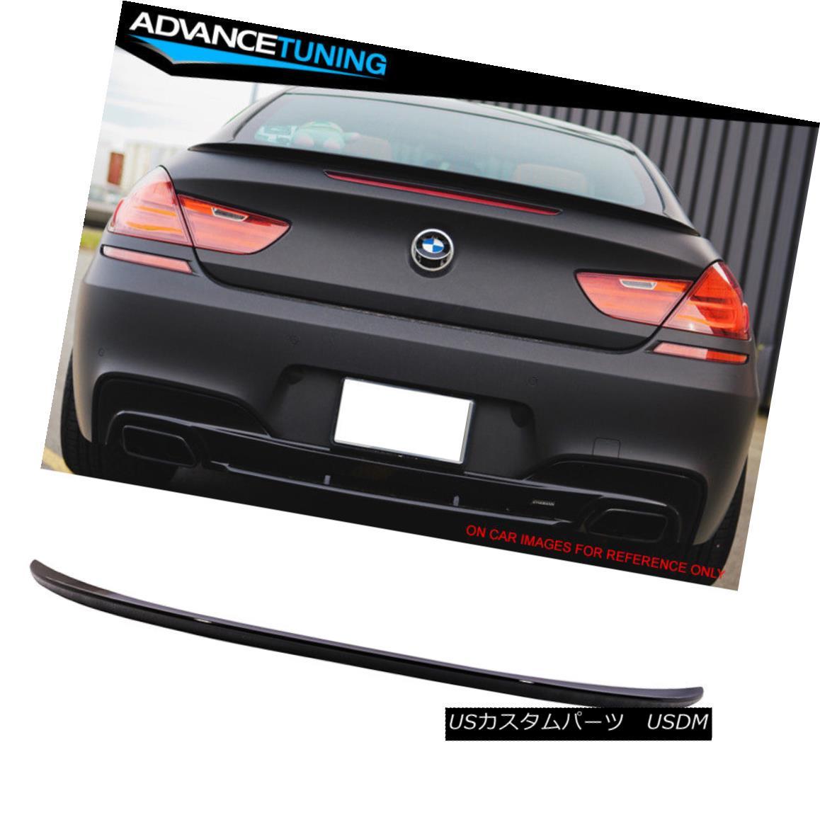 エアロパーツ Fit 12-17 BMW 6 Series F13 2Dr M6 Style Trunk Spoiler OEM Painted #668 Jet Black フィット12-17 BMW 6シリーズF13 2Dr M6スタイルトランクスポイラーOEM塗装#668ジェットブラック