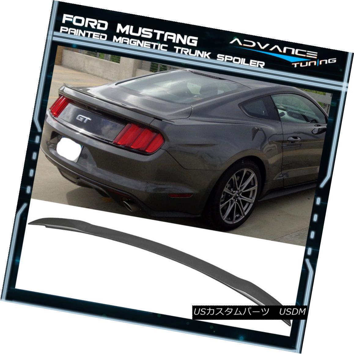 エアロパーツ 15-18 Ford Mustang GT Style Trunk Spoiler OEM Painted Color Magnetic ABS 15-18フォードマスタングGTスタイルのトランクスポイラーOEM塗装カラー磁気ABS