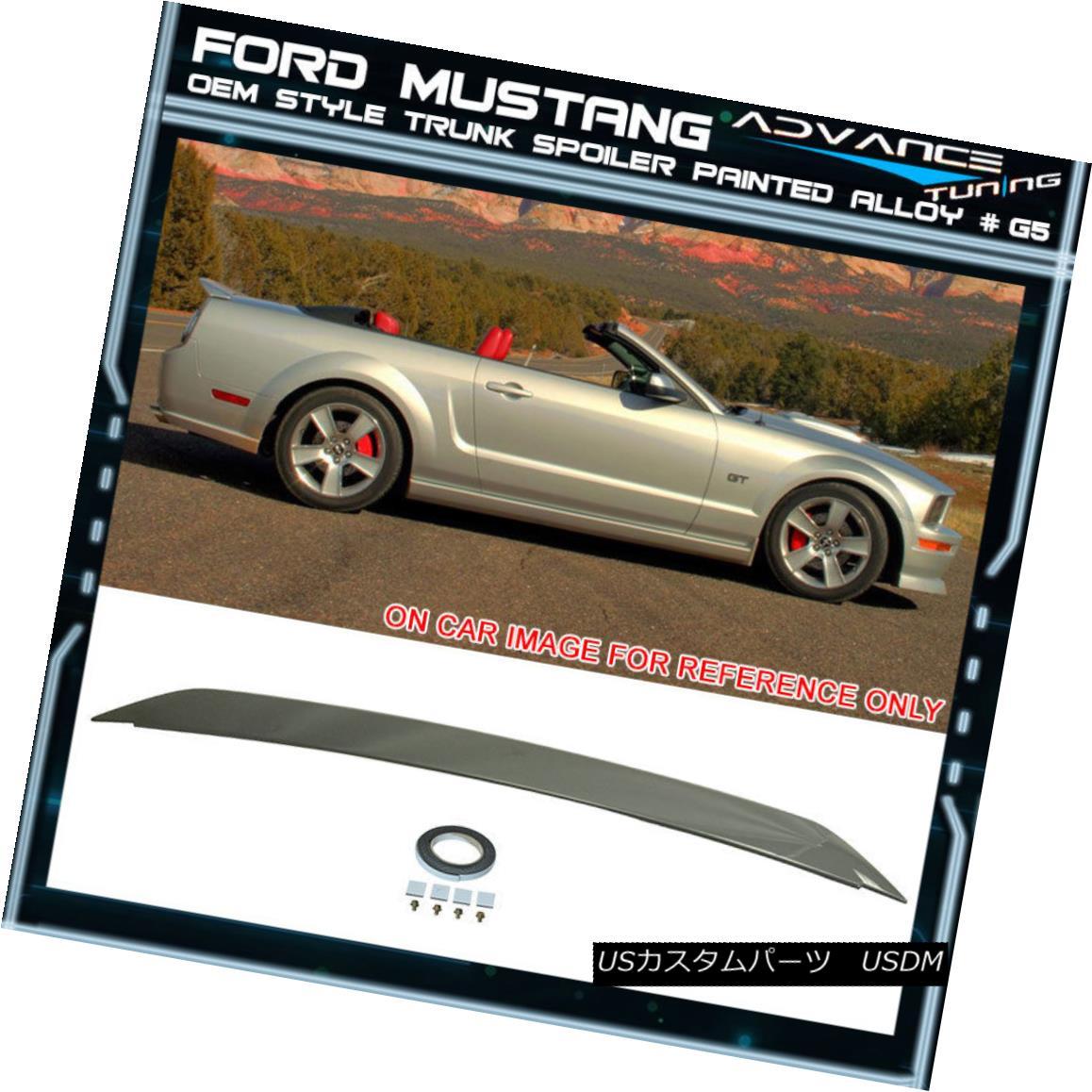 エアロパーツ 05-09 Ford Mustang Trunk Spoiler OEM Painted Color Alloy # G5 05-09フォードマスタングトランクスポイラーOEM塗装カラー合金#G5