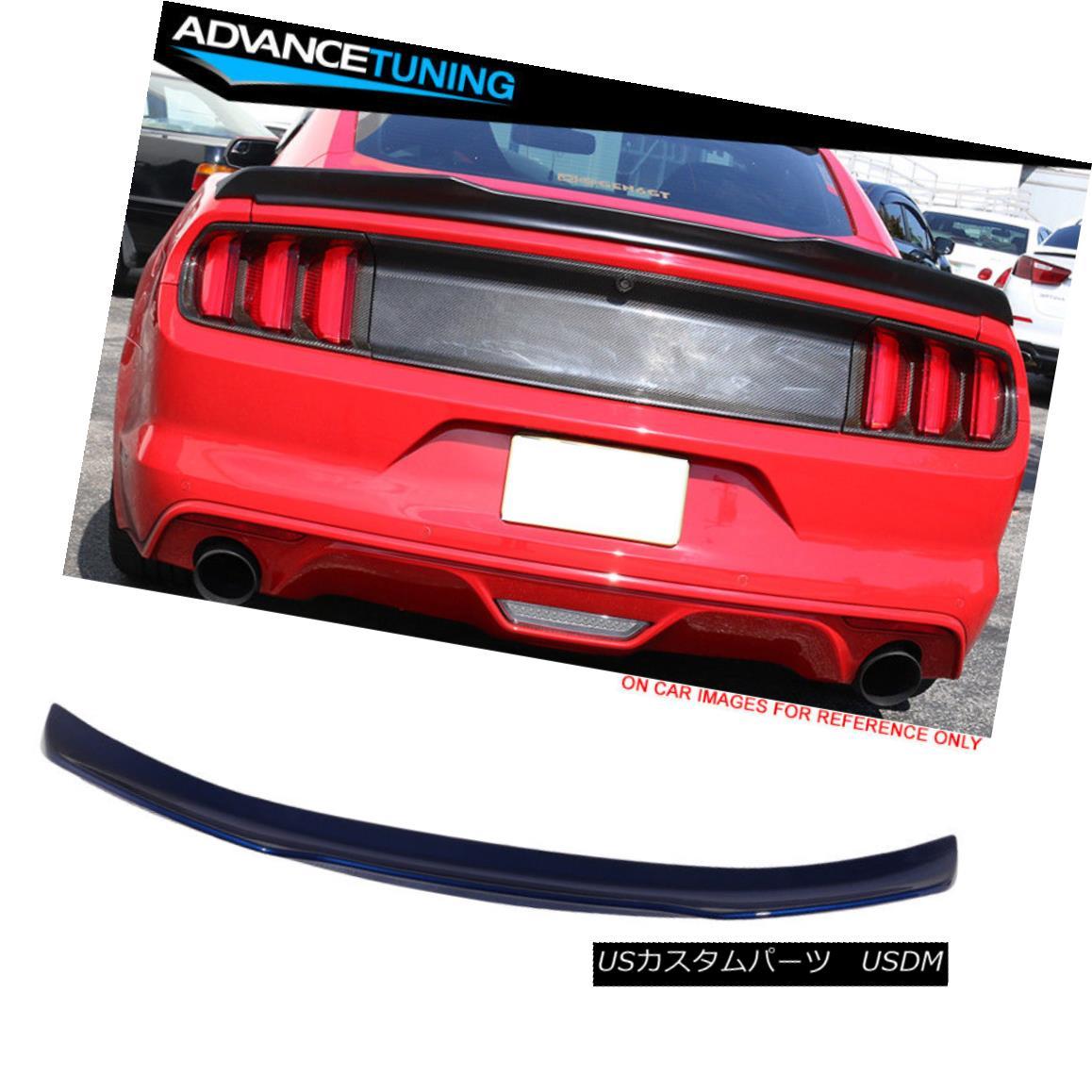 エアロパーツ Fits 15-18 Mustang V Type Trunk Spoiler OE Painted #J4 Deep Impact Blue Metallic フィット15-18ムスタングVタイプのトランク・スポイラーOE塗装済み#J4ディープ・インパクト・ブルー・メタリック