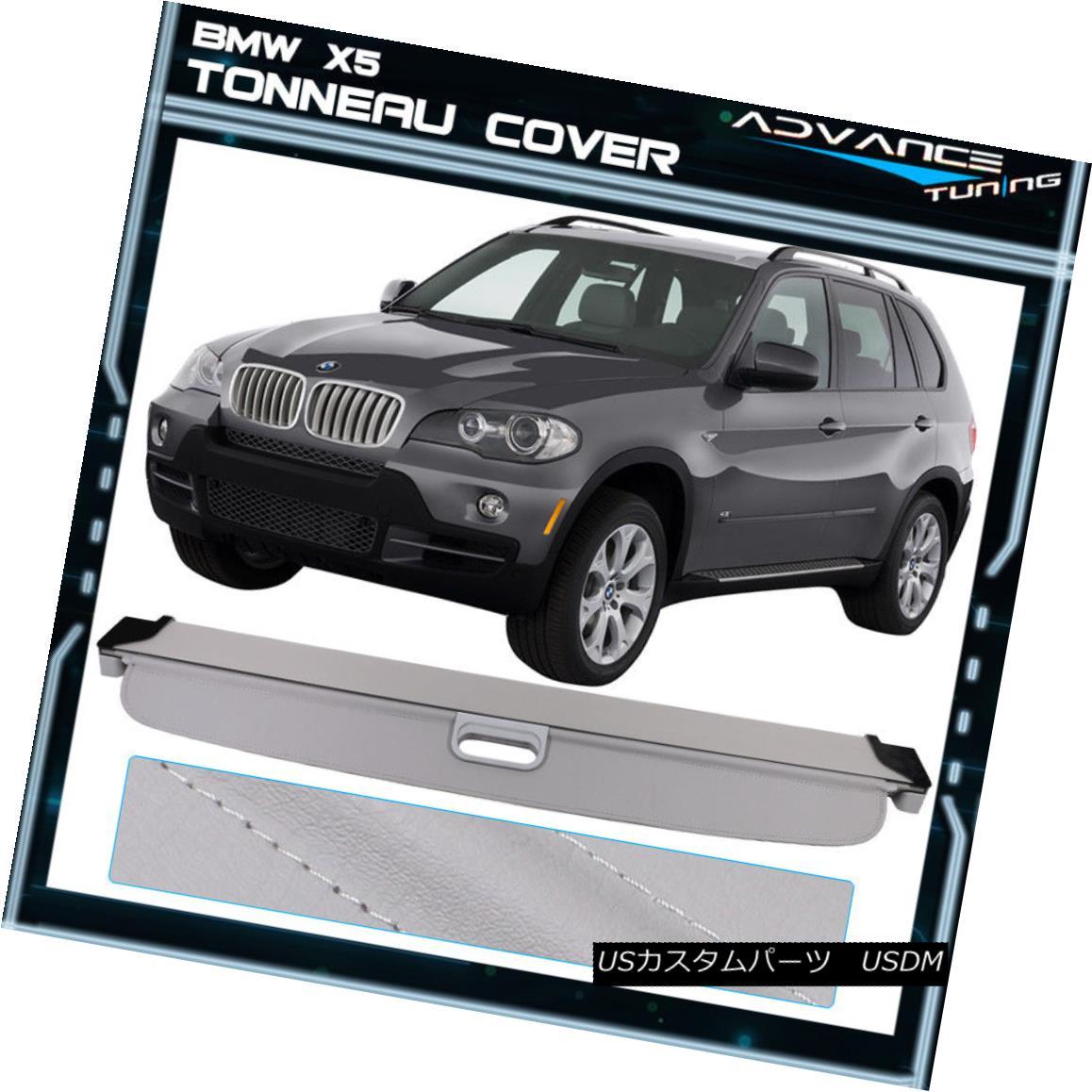 エアロパーツ For 07-13 BMW X5 Tonneau Cover Grey Rear Cargo Cover - Urethane 07-13 BMW X5トノーカバーグレーリアーカーゴカバー - ウレタン