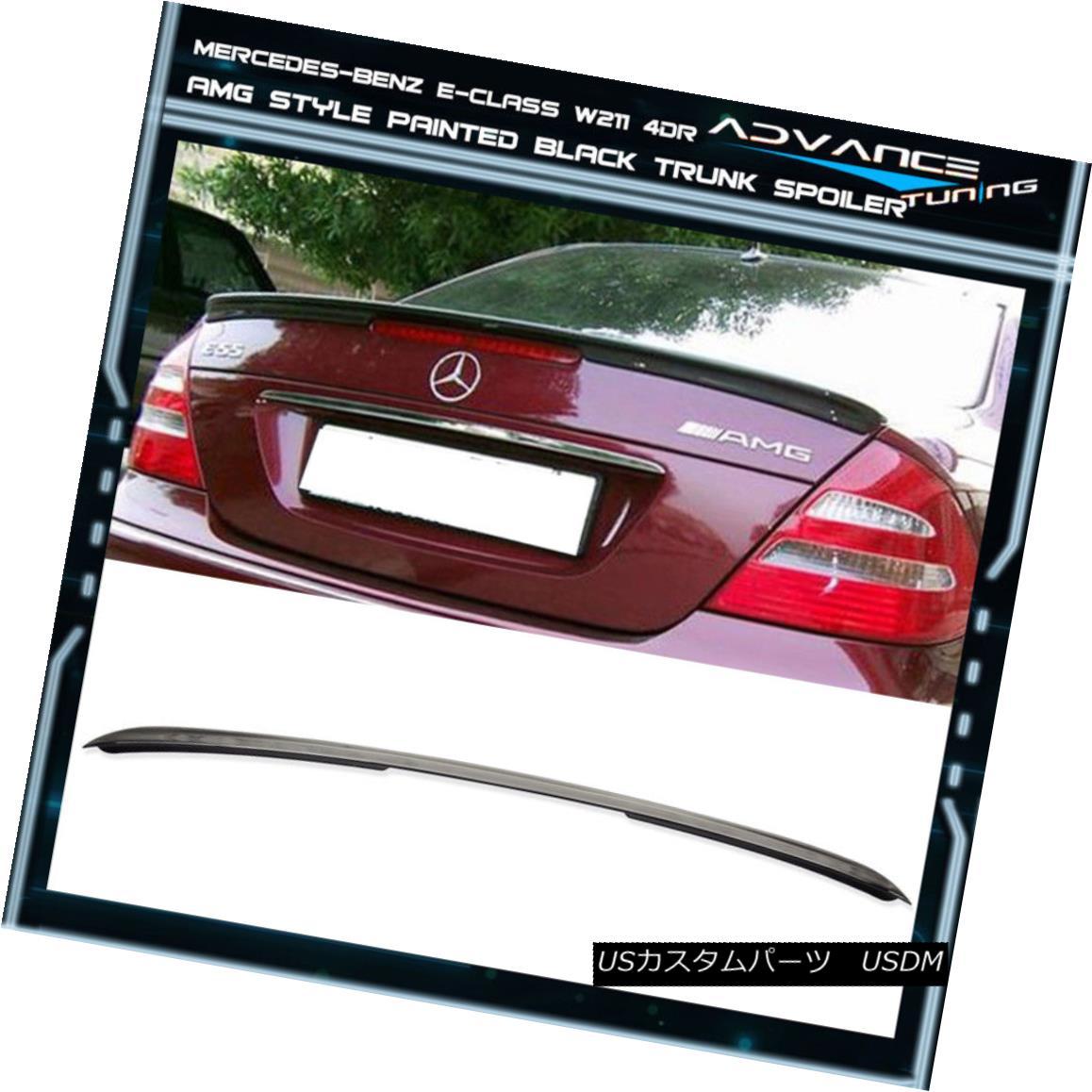 エアロパーツ 03-09 Benz E-Class W211 4Dr Trunk Spoiler ABS OEM Painted Color # 040 Black 03-09ベンツEクラスW211 4DrトランクスポイラーABS OEM塗装カラー#040ブラック