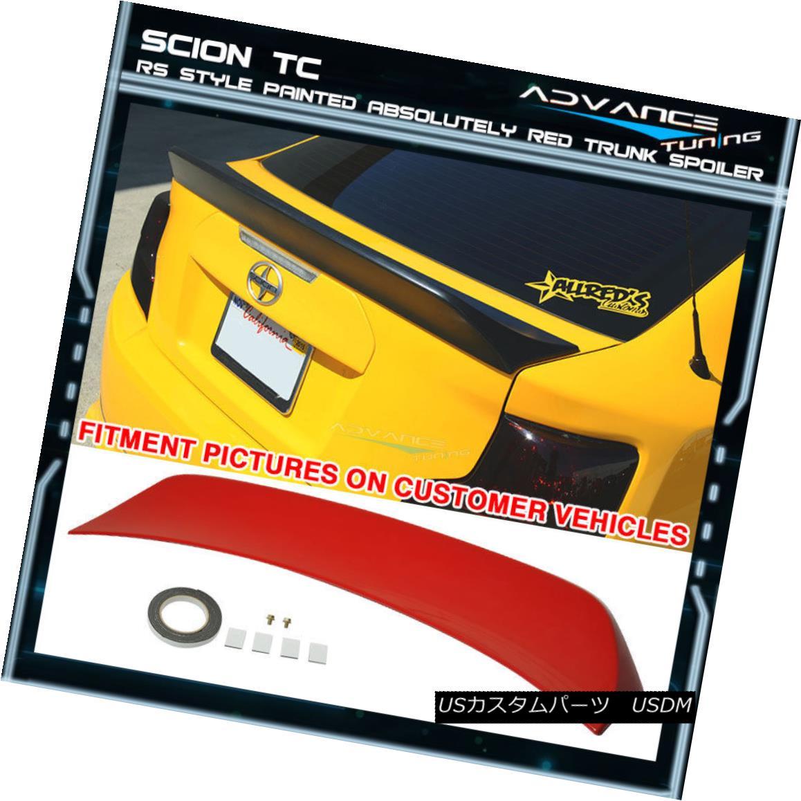 エアロパーツ 11-15 Scion TC RS Style OEM Painted Color # 3P0 Absolutely Red Trunk Spoiler 11-15サイオンTC RSスタイルOEM塗装カラー#3P0絶対に赤いトランク・スポイラー