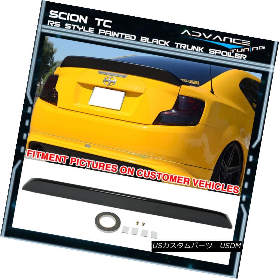 エアロパーツ 11-15 Scion TC RS Style OEM Painted Color # 202 Black Trunk Spoiler (ABS) 11-15サイオンTC RSスタイルOEM塗装カラー#202ブラックトランクスポイラー(ABS)