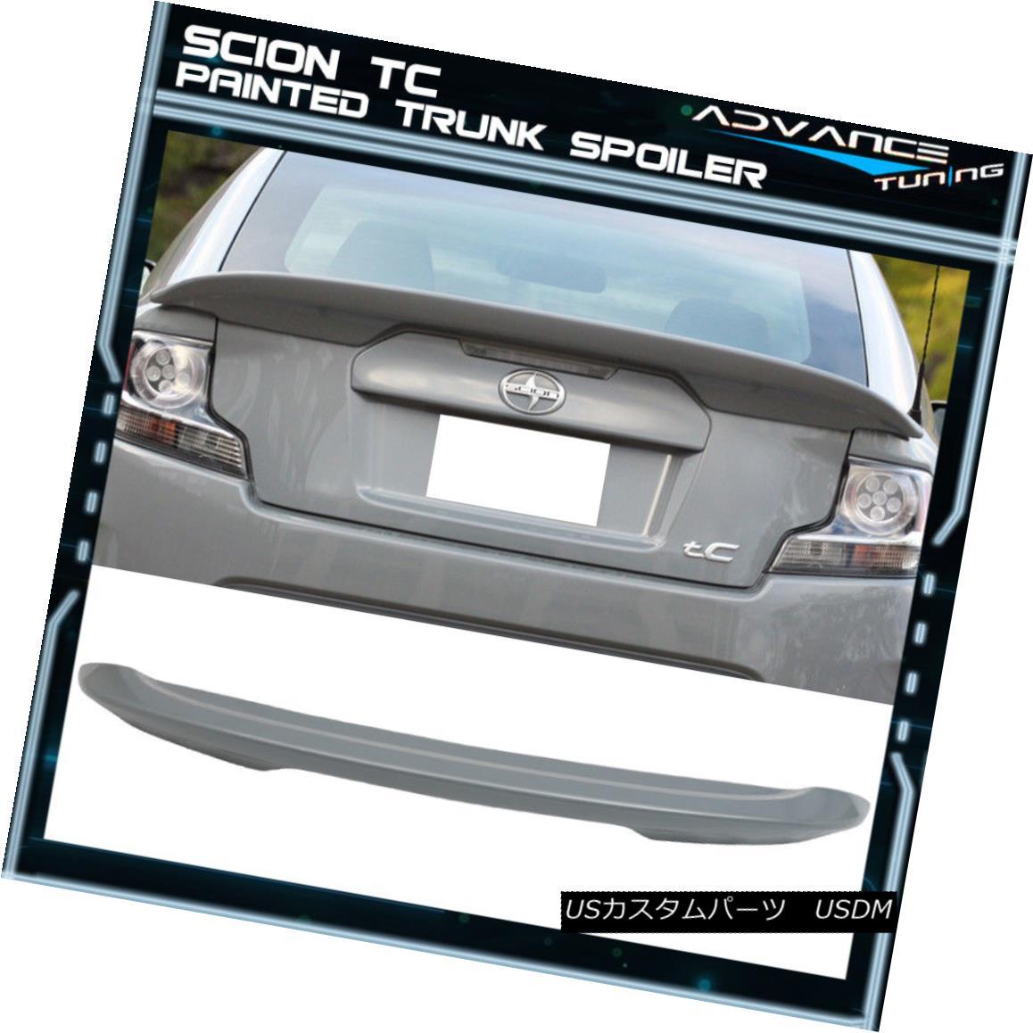 エアロパーツ 11-15 Scion TC ABS Trunk Spoiler OEM Painted Color Cement Gray Metallic #1H5 11-15サイオンTC ABSトランクスポイラーOEM塗装カラーセメントグレーメタリック#1H5