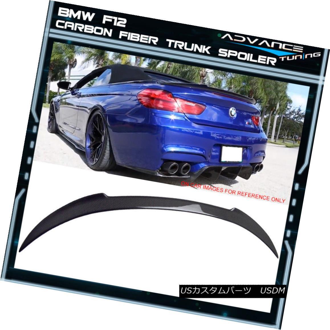 エアロパーツ 12-17 BMW F12 6-Series Convertible V Style Trunk Spoiler Wing CF Carbon Fiber 12-17 BMW F12 6シリーズコンバーチブルVスタイルトランクスポイラー翼CFカーボンファイバー