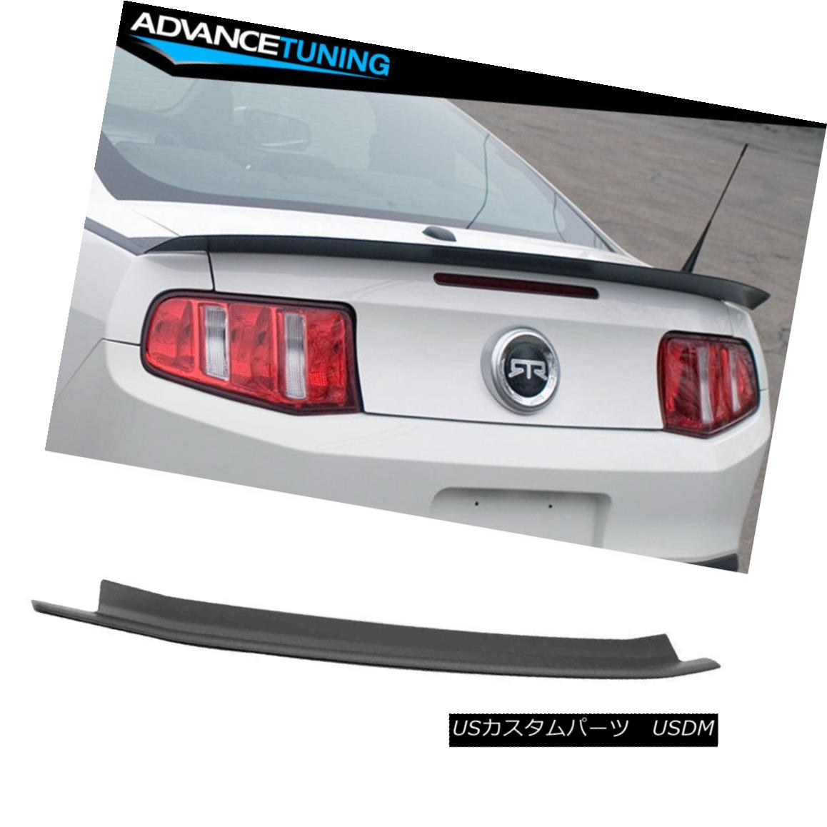 エアロパーツ 10-14 Ford Mustang ABS Trunk Spoiler OEM Painted Color Matte Black 10-14フォードマスタングABSトランクスポイラーOEM塗装カラーマットブラック
