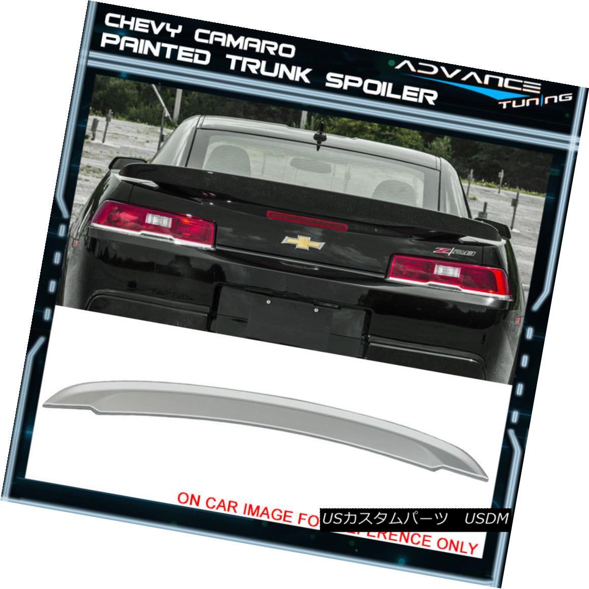 エアロパーツ 14-15 Camaro OE Trunk Spoiler OEM Painted #WA636R Switchblade Silver Metallic 14-15カマロOEトランク・スポイラーOEM塗装済み#WA636Rスイッチブレードシルバー・メタリック