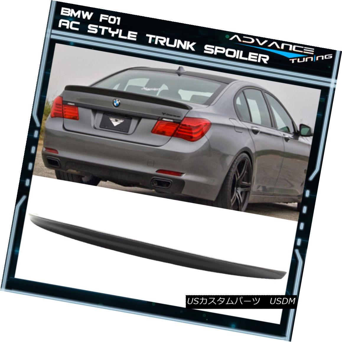 エアロパーツ 09-15 BMW 7 Series F01 AC Style Unpainted ABS Trunk Spoiler 09-15 BMW 7シリーズF01 ACスタイル無塗装ABSトランク・スポイラー