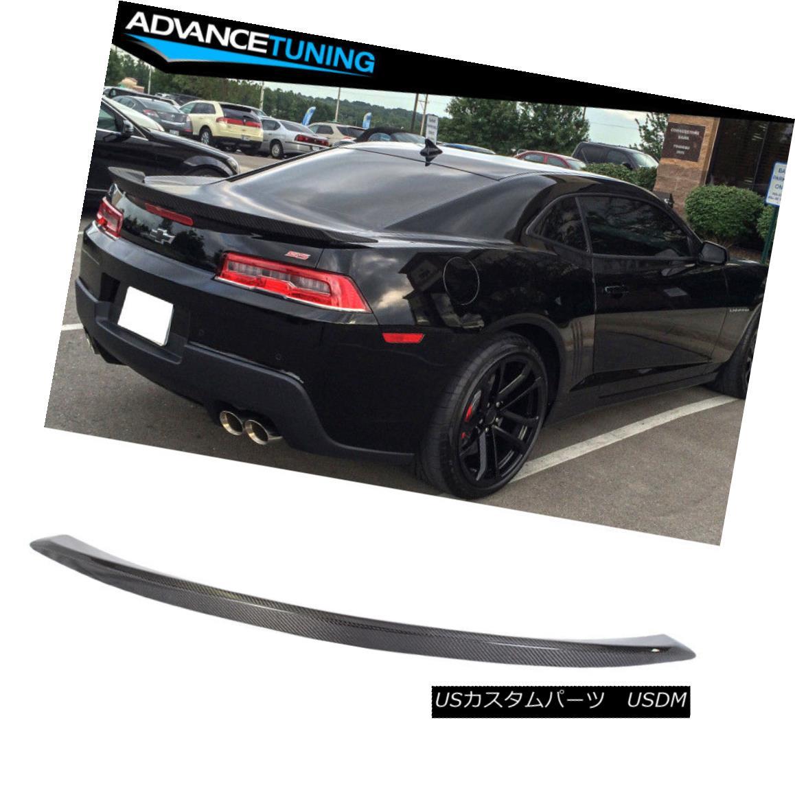 エアロパーツ Fits 10-13 Chevy Camaro OEM Factory Trunk Spoiler - A Grade Carbon Fiber (CF) フィット10-13シボレーカマロOEM工場トランクスポイラー - グレード炭素繊維(CF)