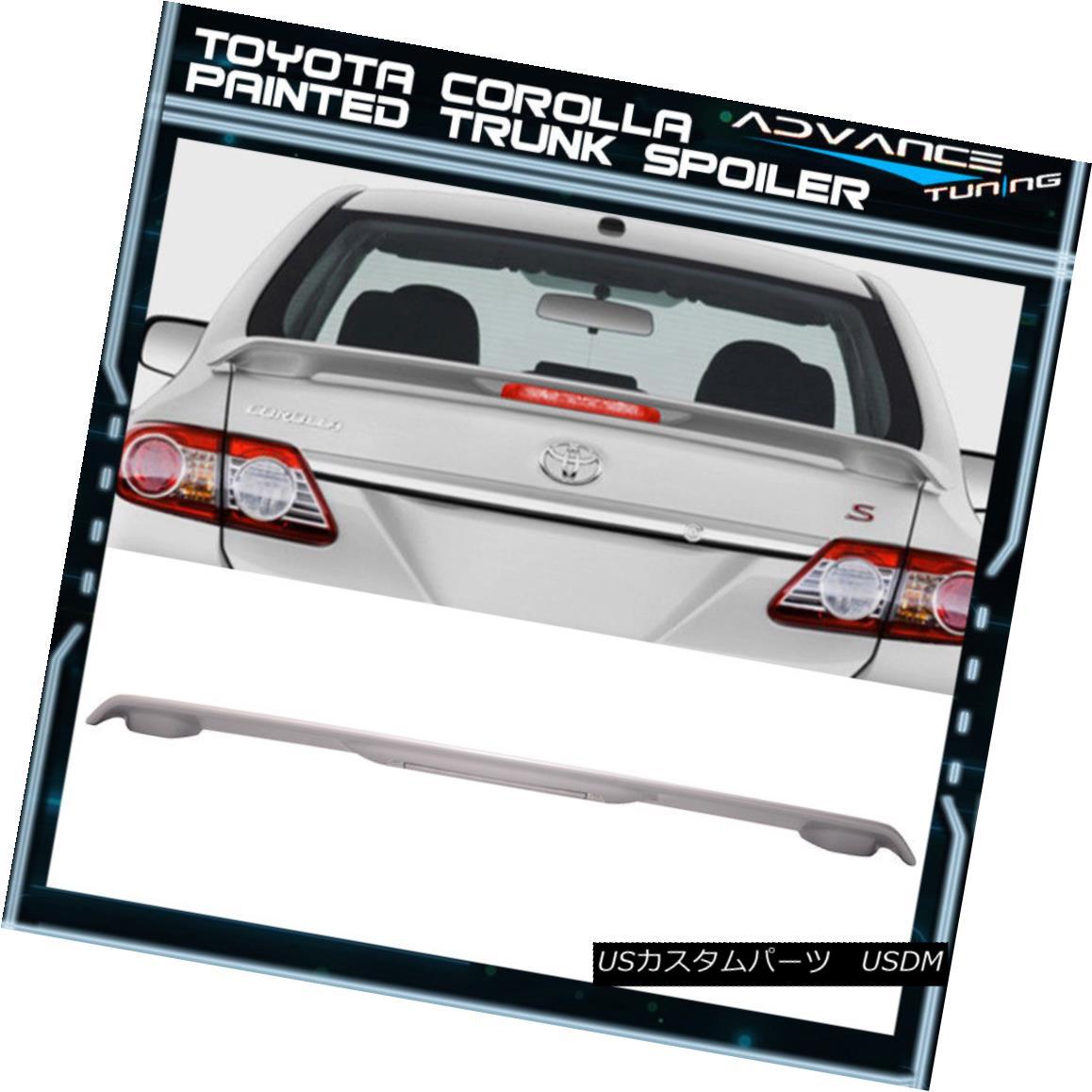 エアロパーツ 09-13 Corolla 4Dr LED Trunk Spoiler OEM Painted Match Classic Silver # 1F7 ABS 09-13カローラ4Dr LEDトランク・スポイラーOEM塗装マッチクラシックシルバー#1F7 ABS