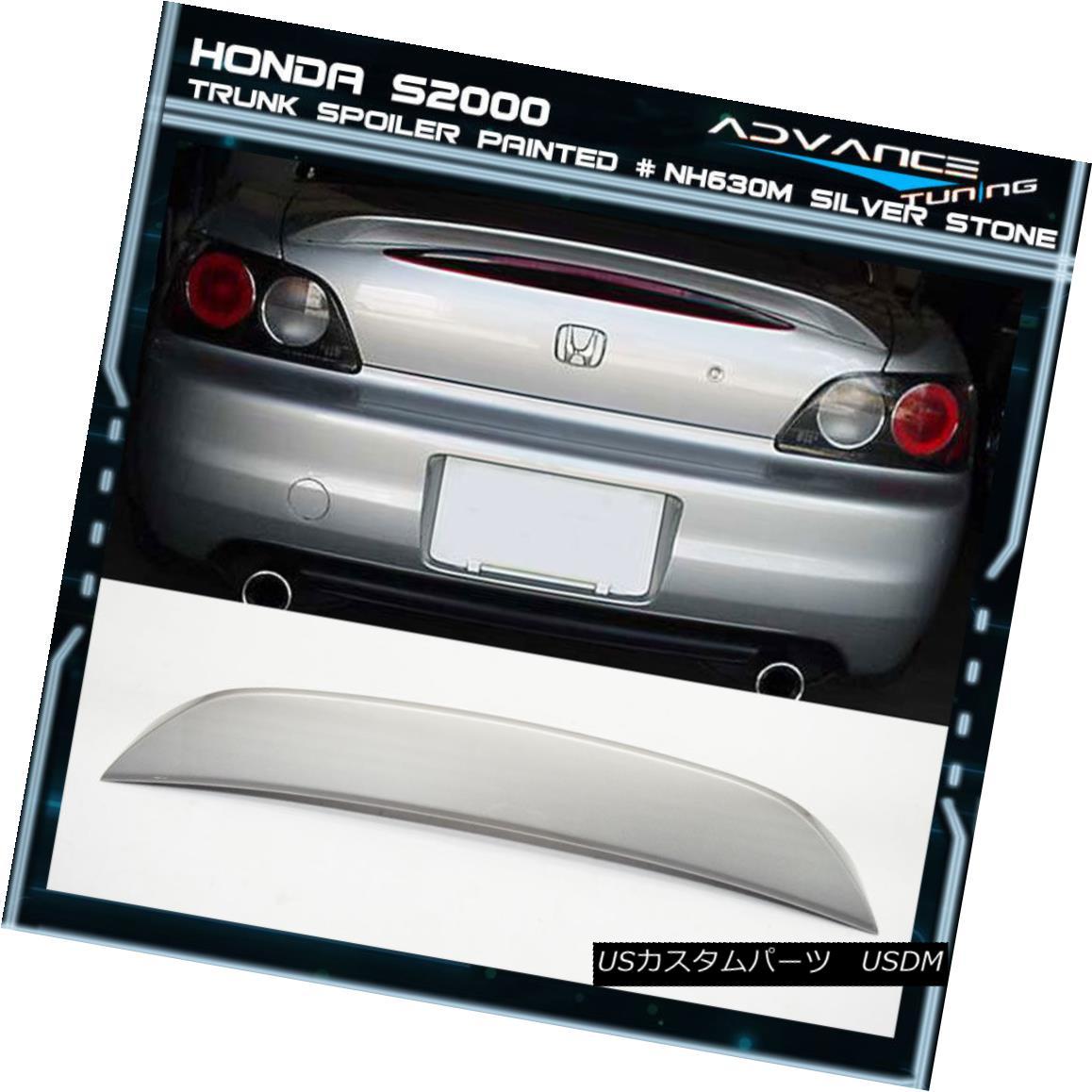 エアロパーツ 00-09 Honda S2000 AP1 AP2 Trunk Spoiler OEM Painted Color # NH630M Silver Stone 00-09ホンダS2000 AP1 AP2トランク・スポイラーOEM塗装カラー#NH630Mシルバーストーン