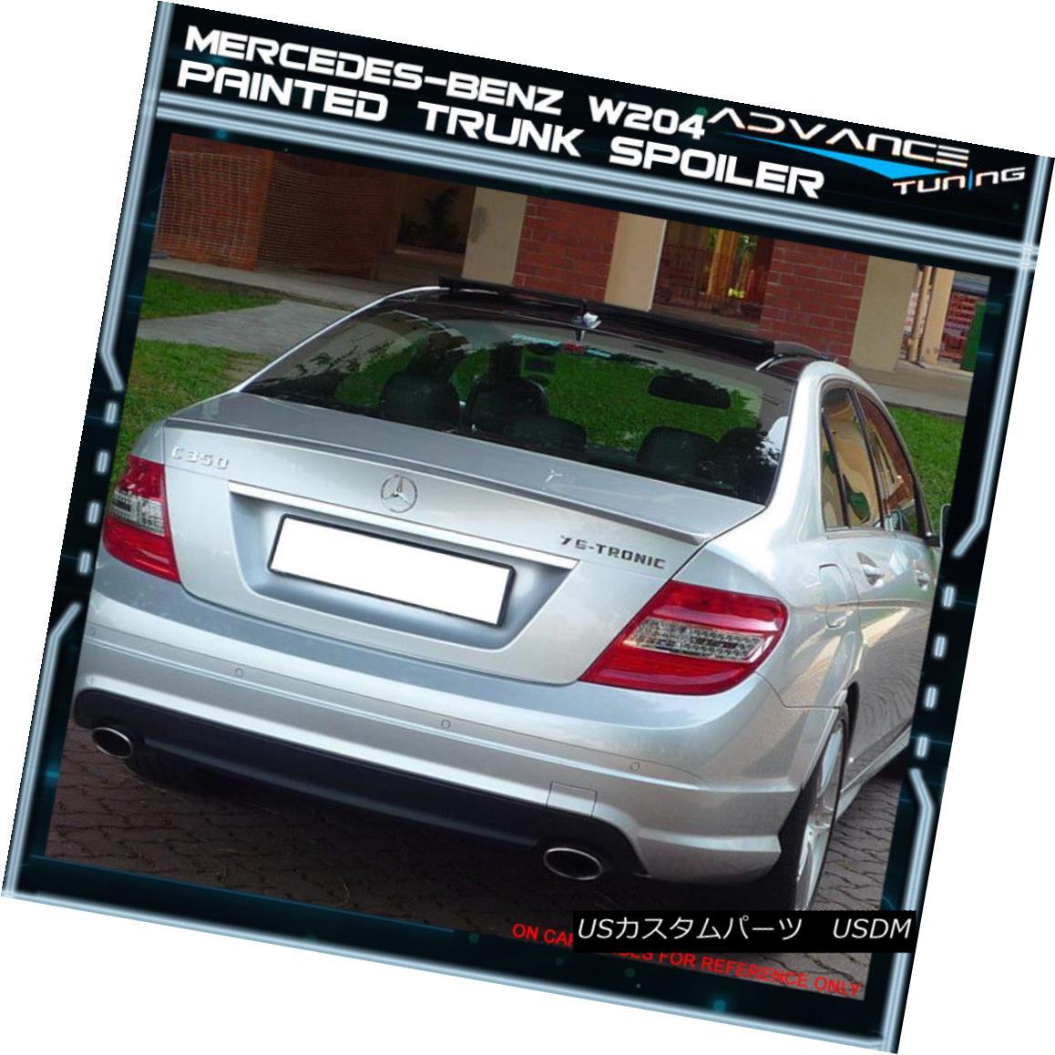 08-14 Benz W204 Sedan AMG Trunk Spoiler OEM Painted #359 Capri Blue Metallic