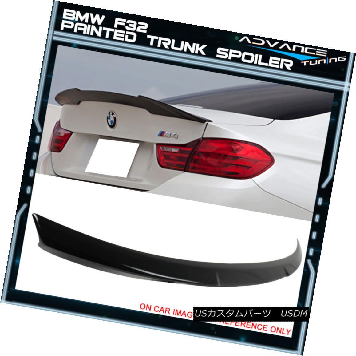エアロパーツ 14-17 BMW F32 Coupe M4 Trunk Spoiler OEM Painted #475 Black Sapphire Metallic 14-17 BMW F32クーペM4トランク・スポイラーOEM塗装#475ブラック・サファイア・メタリック