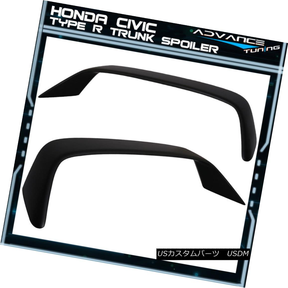 エアロパーツ 96-08 Honda Civic Si Coupe 2Dr EM FG Type R Rear Trunk Spoiler Wing - ABS 96-08ホンダシビックSiクーペ2Dr EM FGタイプRリアトランクスポイラーウィング - ABS