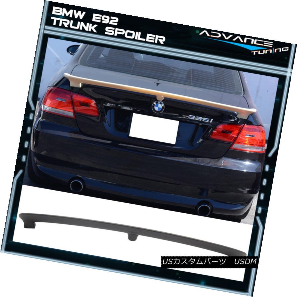 エアロパーツ 07-13 BMW 3 Series E92 2Dr Coupe AC Style Trunk Spoiler Wing - Unpainted ABS 07-13 BMW 3シリーズE92 2DrクーペACスタイルトランク・スポイラー・ウィング - 未塗装ABS