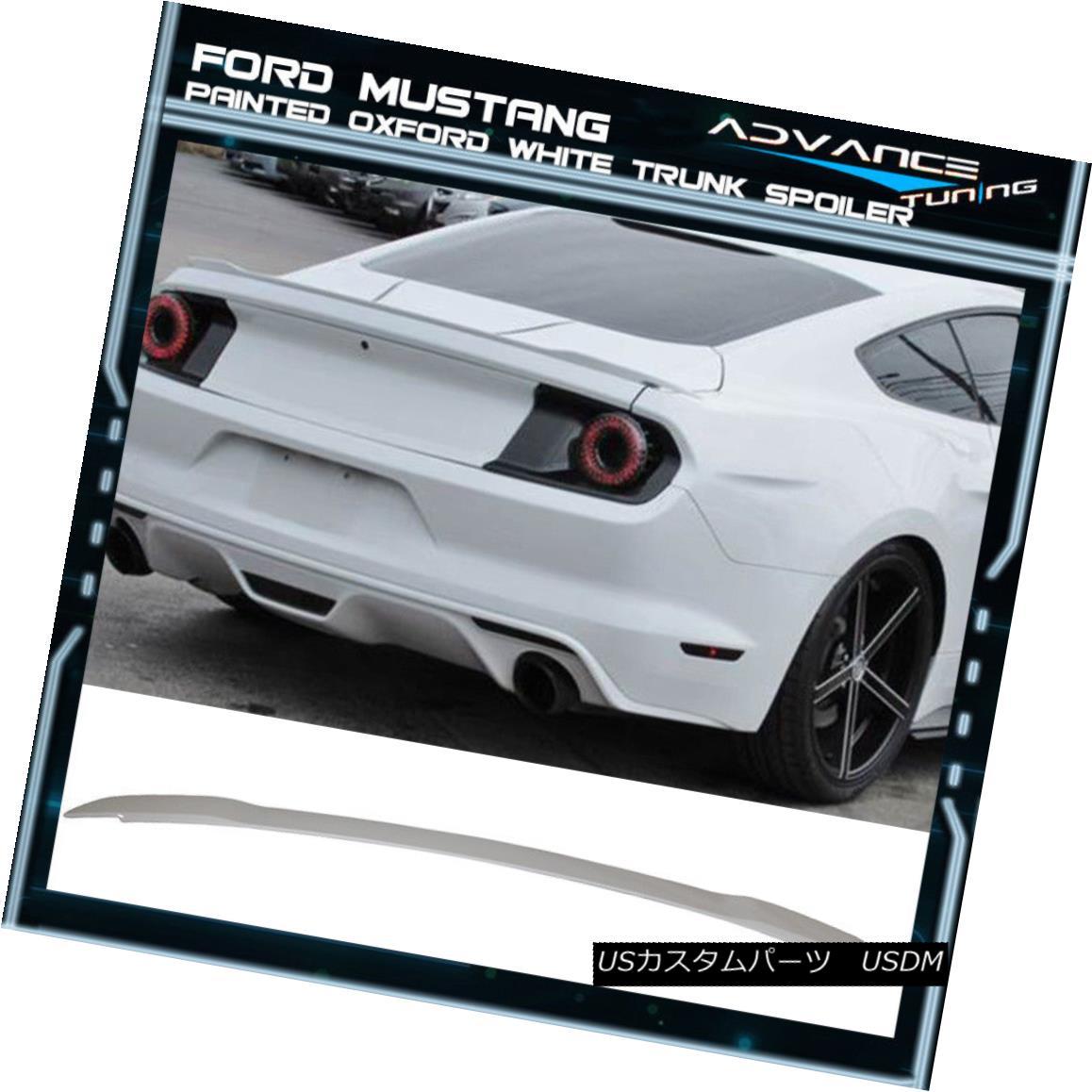 エアロパーツ 15-18 Ford Mustang GT Trunk Spoiler OEM Painted Color Oxford White 15-18フォードマスタングGTトランクスポイラーOEM塗装色オックスフォードホワイト
