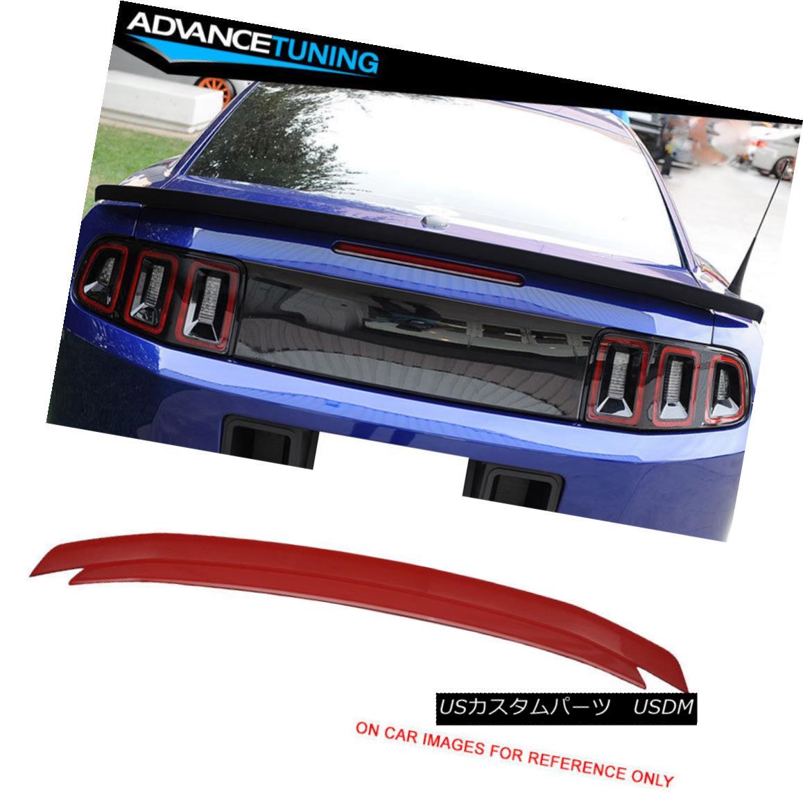 エアロパーツ 10-14 Ford Mustang Trunk Spoiler OEM Painted Color Race Red # PQ 10-14フォードマスタングトランクスポイラーOEM塗装カラーレースレッド#PQ