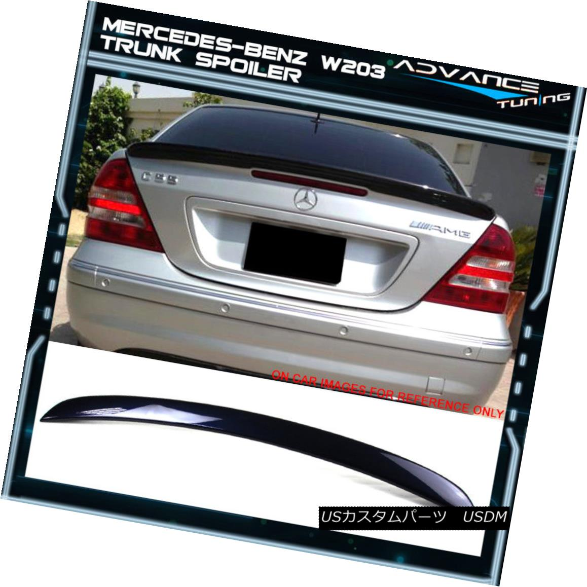 エアロパーツ 01-07 Benz W203 C-Class AMG Style Painted #359 Capri Blue Metallic Trunk Spoiler 01-07ベンツW203 CクラスAMGスタイル塗装#359カプリブルーメタリックトランクスポイラー