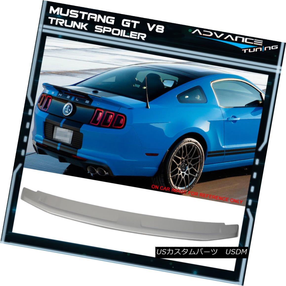 エアロパーツ Fits 10-14 Mustang GT V8 OE Factory Trunk Spoiler Painted Brilliant Sliver #UI 10-14 Mustang GT V8 OEファクトリートランク・スポイラー・ペイントブリリアント・スライバー#UI