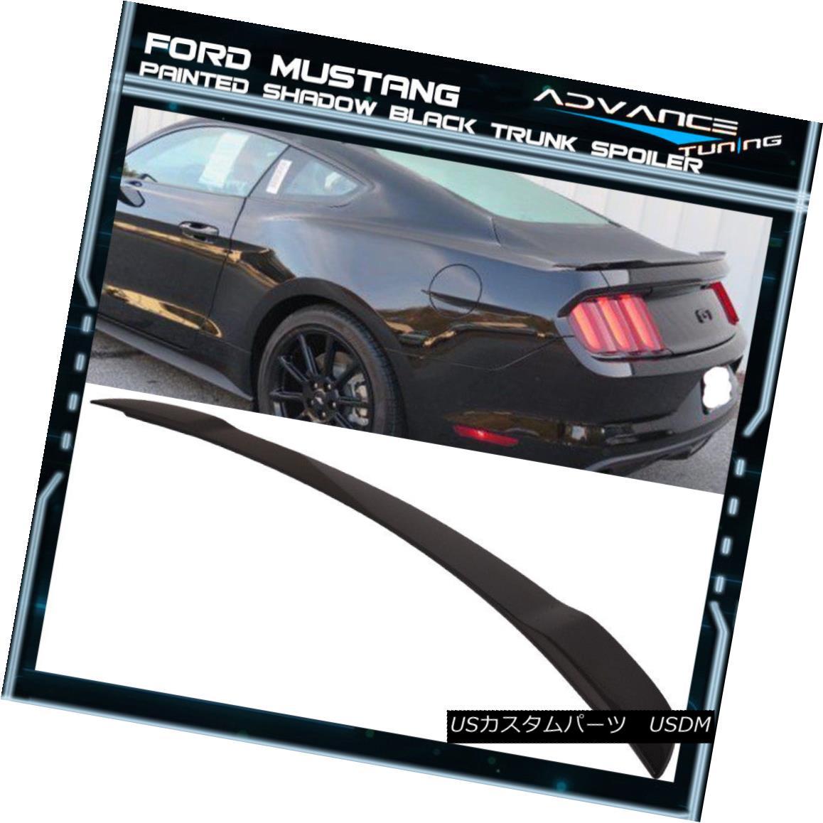 エアロパーツ 15-18 Ford Mustang GT Factory Trunk Spoiler OEM Painted Color Shadow Black 15-18フォードマスタングGT工場トランクスポイラーOEM塗装カラーシャドーブラック