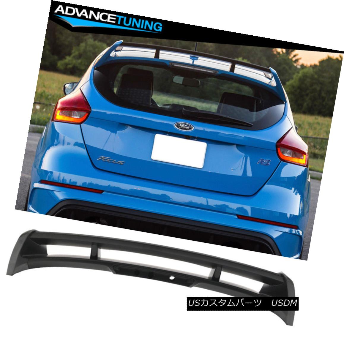 エアロパーツ Fits 12-18 Ford Focus Hatchback HB 5Dr RS Style Roof Spoiler Wing -ABS フィット12-18フォードフォーカスハッチバックHB 5Dr RSスタイルルーフスポイラーウィング?ABS