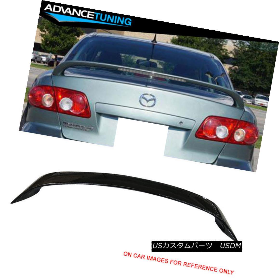 エアロパーツ Fits 03-08 Mazda 6 Sedan OE Style Trunk Spoiler Painted #UA Black フィット03-08マツダ6セダンOEスタイルトランクスポイラー#UAブラック塗装